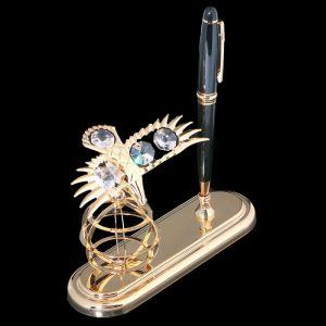 Ручка на подставке «Орёл», 9?15?13,5 см, с кристаллами Сваровски 3605636