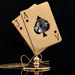 Сувенир «Карты», 6?3.3?8.5 см, с кристаллами Сваровски 445456   4501214