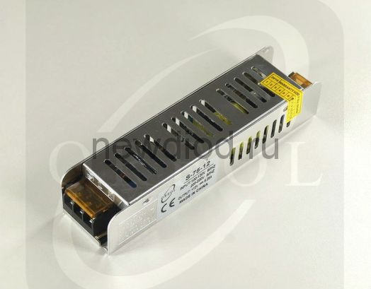 Блок питания Slim 75W.12V.6.25A.IP20 (Металлический корпус) OREOL