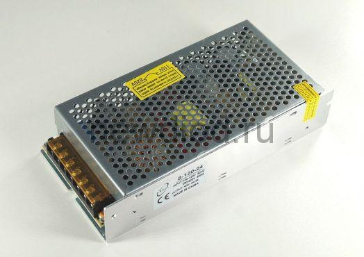Блок питания 24V 120W.12V.5A.IP20 (Металлический корпус) Oreol
