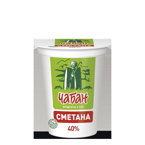 """Сметана """"Чабан"""" 40% , 400гр"""