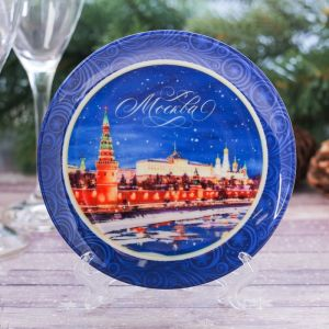 Тарелка декоративная «Москва. Река», d=12 см
