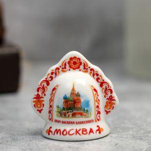 Колокольчик в виде кокошника «Москва. Храм Василия Блаженного»