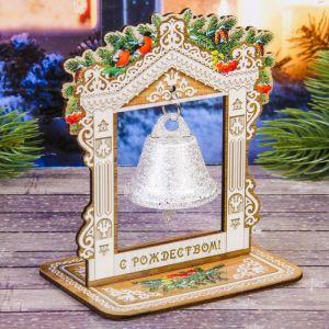 Колокольчик в деревянной рамке «Храм»