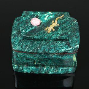 """Ларец """"Ящерка"""" 12,5х8х8,5 см, змеевик 3957003"""