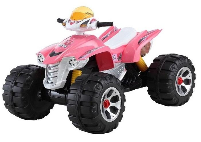 Детский электромобиль (2020) JS318 (12V, колесо пластик) розовый
