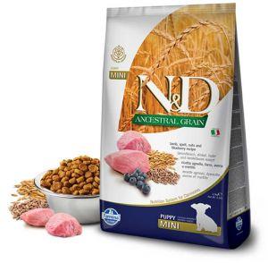 Farmina N&D ANCESTRAL GRAIN д/щ MINI ягнёнок, спельта, овес, черника