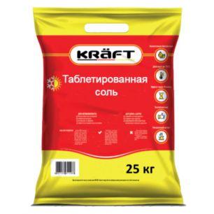 Соль Таблетированная KRAFT 25 кг (Германия-Россия) - все для сада, дома и огорода!