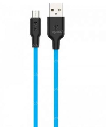 Кабель HOCO X21 Silicone Cable Micro-USB (L=1M), Black&Blue