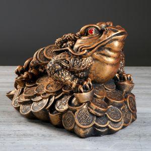"""Копилка """"Жаба"""", глянец, бронзовый цвет, 25 см"""