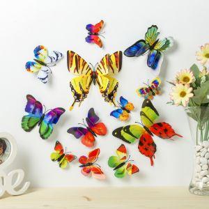"""Магнит пластик """"Ночные бабочки"""" набор 12 шт МИКС h=4,4,5,5,6,8,9,5,13,5,14,5 см   3746970"""