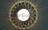 Точечный Светильник OREOL Crystal 7664 113/60mm под лампу MR16 Белый