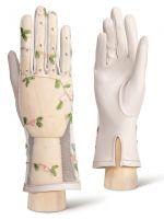 Белые женские перчатки ELEGANZZA