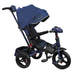 Велосипед 3кол. New Leader 360° 12x10 AIR Car, темно-синий