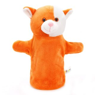 Рыжий кот, кукла на руку, 25 см