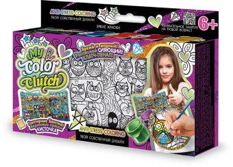 Набор креативного тв-ва My Color Clutch клатч-пенал Совы -раскраска красками и блестками