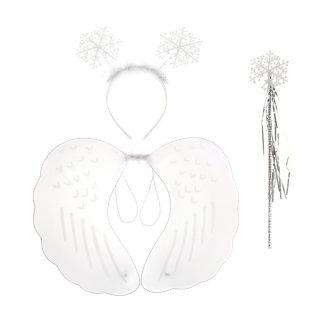 "Костюм ""Ангел"", крылья, ободок,  палочка, белый"