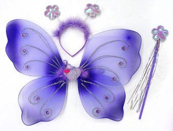 Крылья Бабочки 38 см, ободок, палочка