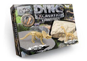 Набор для проведения раскопок Dino Excavation Динозавры (Трицератопс и Брахиозавр)