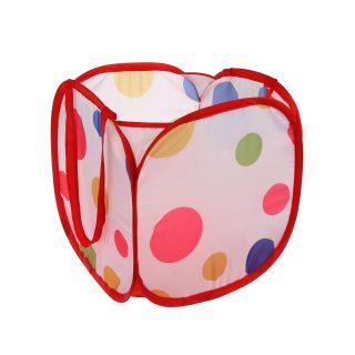 Корзина для игрушек  Цветной горошек, 31*31*32см