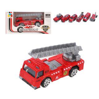 Машина металл. Пожарная бригада 1:64, коробка, в ассортименте