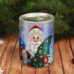 Набор для творчества. Копилка для декорирования стразами «Сказочного Нового года» Дед Мороз