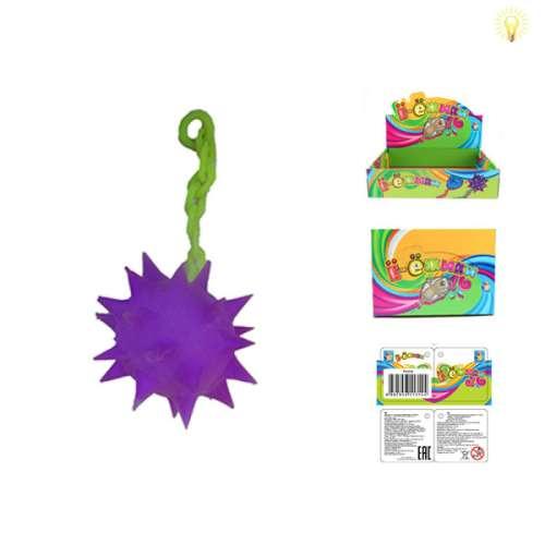 1toy, Ё-ёжики, цепная булава со светом фиолетовая, 13 см