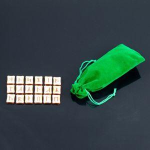 Набор славянских рун, 18 шт., бук (в комплекте мешочек) 2343019