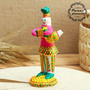 Филимоновская игрушка «Солдат с гармошкой и со свистулькой» 4298925