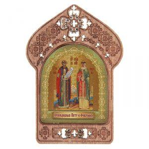 """Икона """"Преподобные Петр и Феврония"""". Помощь и защита семейных пар и влюбленных"""