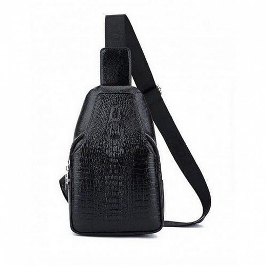 Мужская сумка-рюкзак Alligator черная
