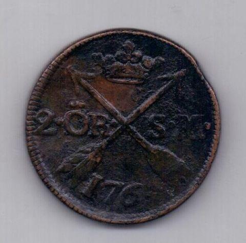 2 эре 1764 года Швеция