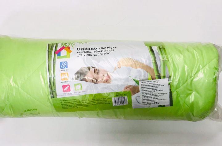 Одеяло Бамбук стеганое облегченное 150г/м полиэстер 172*205см