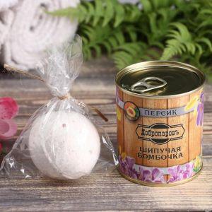 Шипучая бомбочка в банке, персидская соль, персик 4806576