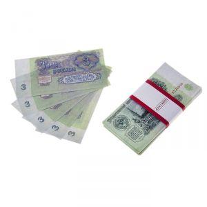 Пачка купюр СССР 3 рублей 770175