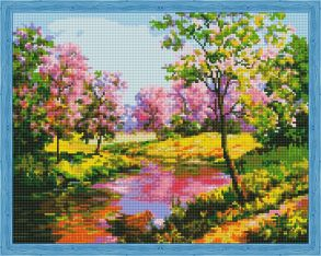 Алмазная мозаика «Пробуждение природы» 40x50 см