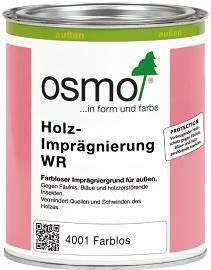 Грунт-Антисептик Osmo Holz-Impragnierung WR 4001 0.125л для Древесины, Бесцветный для Наружных Работ / Осмо