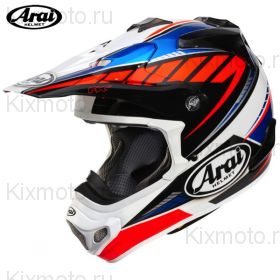Шлем Arai MX-V Rumble, Оранжево-синий