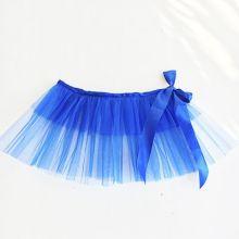 Юбка пачка танцевальная детская голубая