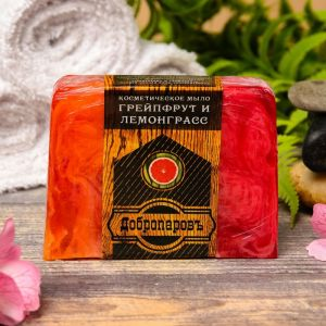"""Косметическое мыло для бани и сауны """"Грейпфрут и Лемонграсс"""", """"Добропаровъ"""", 100 гр.   2921995"""