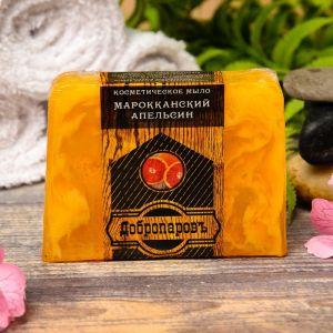 """Косметическое мыло для бани и сауны """"Марокканский апельсин"""", """"Добропаровъ"""", 100 гр.   2922004"""