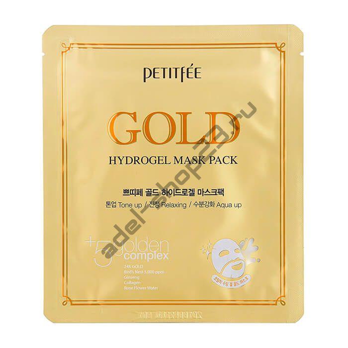 PETITFEE - Золотая гидрогелевая маска Gold Hydrogel Mask Pack