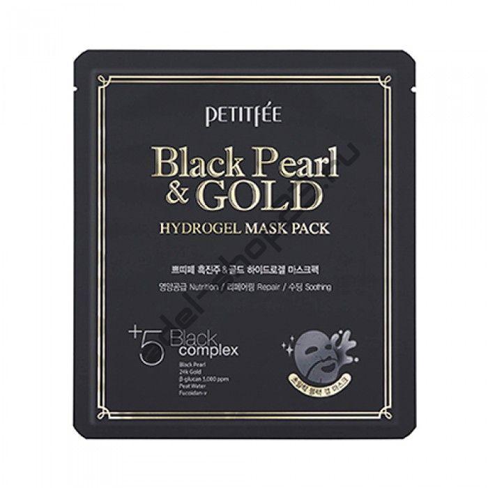 PETITFEE - Гидрогелевая маска с золотом и черным жемчугом Black Pearl Gold Hydrogel Mask Pack