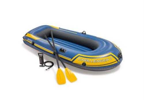 Надувная лодка челленджер-2 236х114х41см/весла пласт./насос ручной
