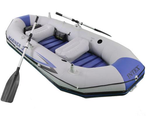 Надувная лодка маринер 3, 297х127х46см/весла алюм./насос ручной
