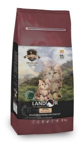 ЛАНДОР КИТТЕН сухой корм для котят утка с рисом (Landor Kitten)