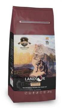 ЛАНДОР для кошек ИНДОР утка с рисом (LANDOR INDOOR CAT)