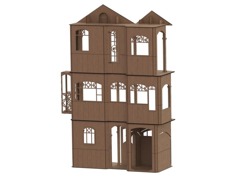 Кукольный дом три этажа