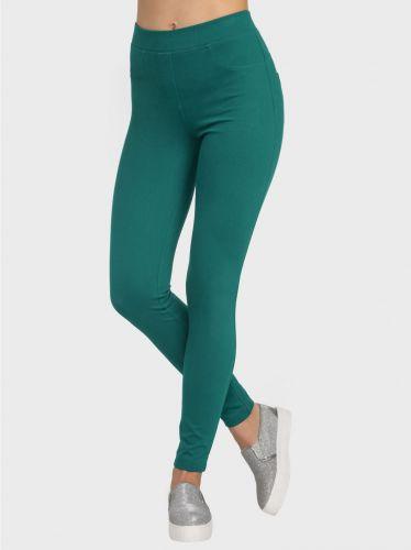 Ультраэластичные женские облегающие леггинсы Conte inctyle emerald green CON014