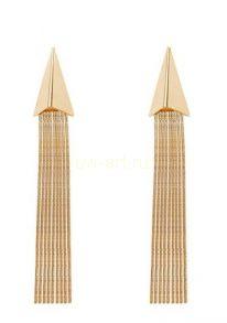 Длинные позолоченные цепочечные серьги (арт. 880125)